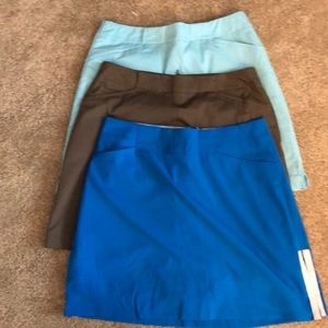 3 Nike golf skirts. Size 4. Like new.